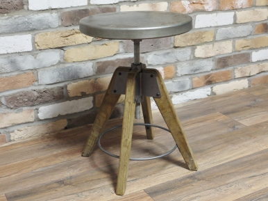 Round industrial Stool 1
